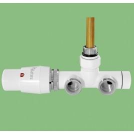 Zestaw termostatyczny ALATUS UNICO kątowy biały prawy