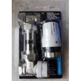 Komplet termostatyczny kątowy do podłączenia grzejnika A.7025
