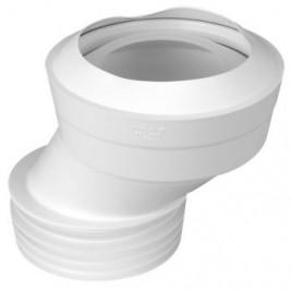 Przyłącze kanalizacyjne elastyczne WC wejście 90-110mm, wyjście 110mm z przesunięciem 40mm