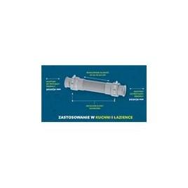 Uniwersalne przyłącze elastyczne fi 50/40/32, L-200-520