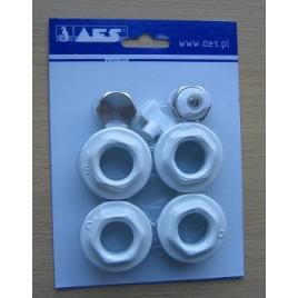 Korek grzejnikowy odpowietrznik+zaślepka+kluczyk- zestaw (włoskie) fibra , VERO